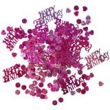 Konfetti Happy Birthday Pink, holografisch, 15 Gramm Packung