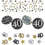 Konfetti Happy Birthday Sparkling Gold 40, 34 Gramm Packung