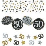 Konfetti Happy Birthday Sparkling Gold 50, 34 Gramm Packung