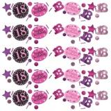Konfetti Happy Birthday Sparkling Pink 18, 34 Gramm Packung