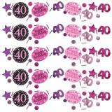 Konfetti Happy Birthday Sparkling Pink 40, 34 Gramm Packung