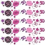 Konfetti Happy Birthday Sparkling Pink 50, 34 Gramm Packung