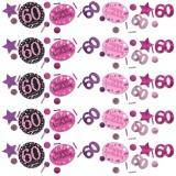 Konfetti Happy Birthday Sparkling Pink 60, 34 Gramm Packung