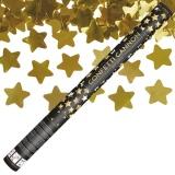 Konfettikanone 60 cm, goldene Sterne, 1 Stück