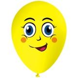 Lächelnder Emoji, Gesicht, Latexballon, 28-30 cm, Gelb, 1 Stück
