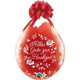 Verpackungsballons, Stuffer, Alles Gute zur Hochzeit, 25 Stück, transparent