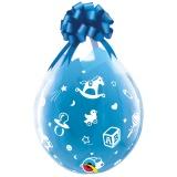 Verpackungsballons, Stuffer, Babymotive, 25 Stück, transparent