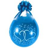 Verpackungsballons, Stuffer, Entwined Hearts, 10 Stück, transparent