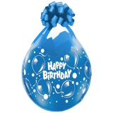 Verpackungsballons, Stuffer, Happy Birthday, Sparkling Balloons, 10 Stück, transparent