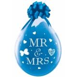 Verpackungsballons, Stuffer, Mr. & Mrs., 10 Stück, transparent