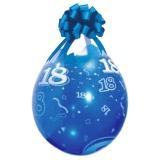 Verpackungsballons, Stuffer, Zahl 18, 10 Stück, transparent