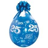 Verpackungsballons, Stuffer, Zahl 25, 10 Stück, transparent