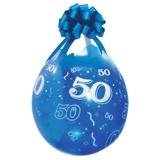 Verpackungsballons, Stuffer, Zahl 50, 10 Stück, transparent