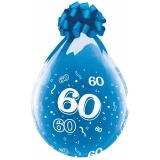 Verpackungsballons, Stuffer, Zahl 60, 10 Stück, transparent