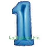 Folien-Luftballon Blau, Zahl 1