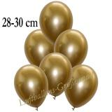 Chrome Latexballons, 28-30 cm, Gold, 50 Stück