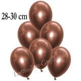 Chrome Latexballons, 28-30 cm, Kupfer, 50 Stück