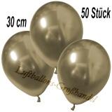 Chrome Latexballons, 30 cm, Gold, 50 Stück