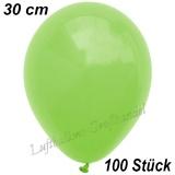 Latexballons, 30 cm, Standardfarbe, Apfelgrün, 100 Stück