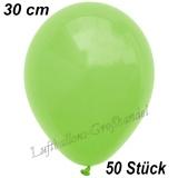 Latexballons, 30 cm, Standardfarbe, Apfelgrün, 50 Stück
