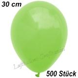 Latexballons, 30 cm, Standardfarbe, Apfelgrün, 500 Stück