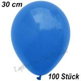 Latexballons, 30 cm, Standardfarbe, Blau, 100 Stück