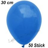 Latexballons, 30 cm, Standardfarbe, Blau, 50 Stück