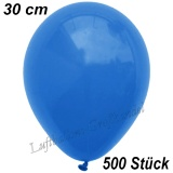 Latexballons, 30 cm, Standardfarbe, Blau, 500 Stück
