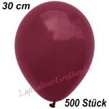 Latexballons, 30 cm, Standardfarbe, Burgund, 500 Stück