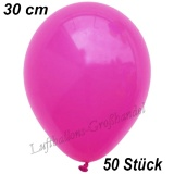 Latexballons, 30 cm, Standardfarbe, Fuchsia, 50 Stück