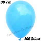 Latexballons, 30 cm, Standardfarbe, Himmelblau, 500 Stück