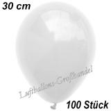 Latexballons, 30 cm, Standardfarbe, Weiß, 100 Stück