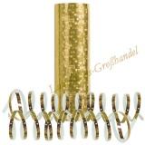 Luftschlangen - Gold, holografisch, 1 Rolle