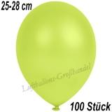 Latexballons, 25-28 cm cm, Metallic, Apfelgrün, 100 Stück