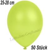 Latexballons, 25-28 cm cm, Metallic, Apfelgrün, 50 Stück