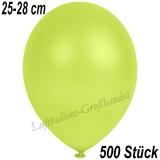 Latexballons, 25-28 cm cm, Metallic, Apfelgrün, 500 Stück