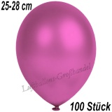 Latexballons, 25-28 cm cm, Metallic, Fuchsia, 100 Stück