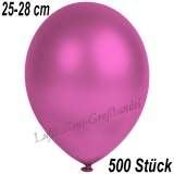 Latexballons, 25-28 cm cm, Metallic, Fuchsia, 500 Stück