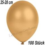 Latexballons, 25-28 cm cm, Metallic, Gold, 100 Stück