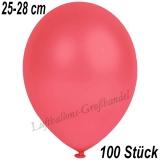 Latexballons, 25-28 cm cm, Metallic, Rot, 100 Stück