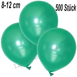 Mini-Latexballons 8-12 cm, Metallic, Aquamarin, 500 Stück