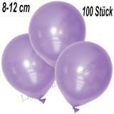 Mini-Latexballons 8-12 cm, Metallic, Lila, 100 Stück