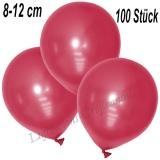 Mini-Latexballons 8-12 cm, Metallic, Rot, 100 Stück