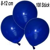 Mini-Latexballons 8-12 cm, Dunkelblau, 100 Stück