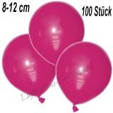 Mini-Latexballons 8-12 cm, Fuchsia, 100 Stück