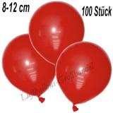 Mini-Latexballons 8-12 cm, Rot, 100 Stück