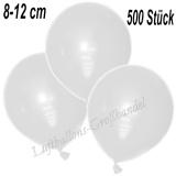 Mini-Latexballons 8-12 cm, Weiß, 500 Stück