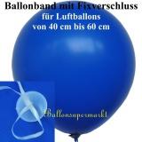 Maxi Ballonbänder mit Schnellverschlüssen für Ballons von 40 - 60 cm Ø, 100 Stück