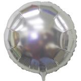 "Rundluftballon, Folie, 18"" - 45 cm, Silber"
