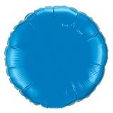 """Rundluftballon, Folie, 36"""" - 90 cm, Blau"""